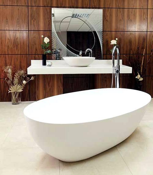 дзеркало в інтер'єрі ванної