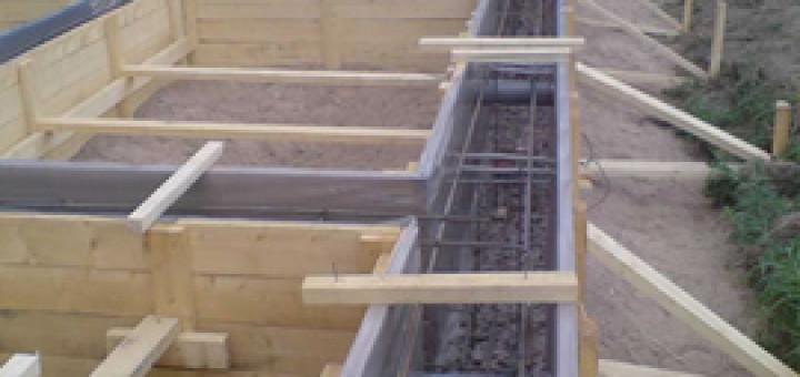 Виробництво стрічкового фундаменту. Етапи