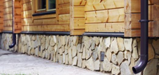 Облицювання цоколя будинку натуральним каменем