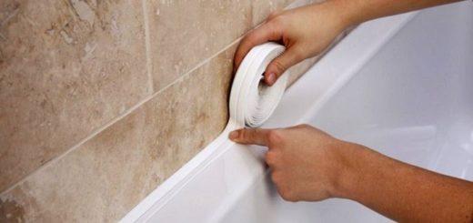 зазор між ванной та стеной